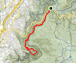 Western States Trail to Robie Point Fire Break Map