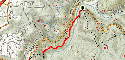 Western States Trail to Calcutta Falls Map
