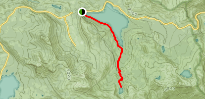 Caples Lake to Emigrant Lake Trail Map