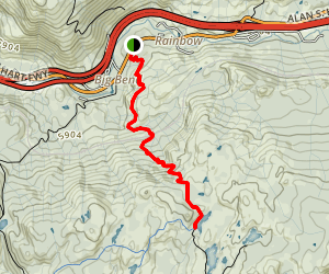 Loch Leven Lakes Trail (to the First Lake) Map