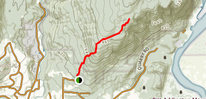 Elevator, Triple Crown, and Gunners Trail Map