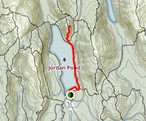 Jordan Pond to South Bubble Summit Map