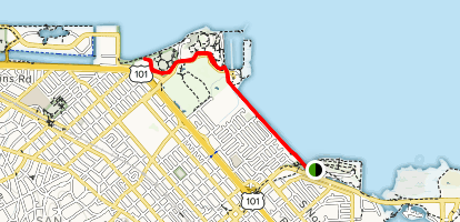 Seal Point to Coyote Point Map