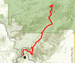 Grey Butte Trail via Burma Road Trail Map