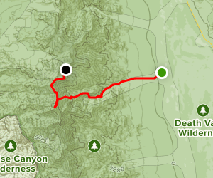 Telescope Peak via Shorty's Well Route Map