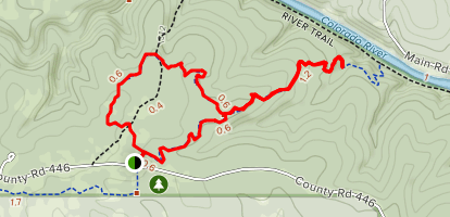 Dogleg Canyon and Cedar Chopper Loop Map