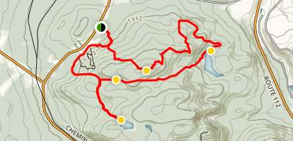 Mont Caribou Loop Map