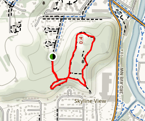 Indian Heights Park Loop Map
