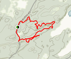 Grass Lake Overlook, North Ridge, and Sugar Shack Trails Loop Map