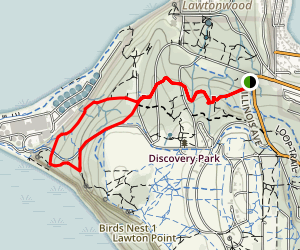 South Beach and Hidden Valley Loop Trail Map