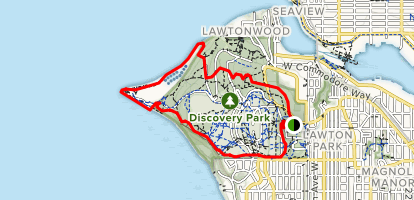 Discovery Park and Lighthouse Loop Trail Map
