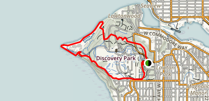 Discovery Park Loop Trail Map