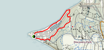 North Beach and Hidden Valley Loop Map