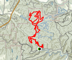 Hesitation Point to Green Valley Loop Map