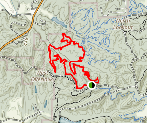 Hobbs Hollow Flow Trail to Hesitation Point Map