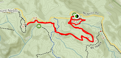 Jollys Lookout to Egernia and Thylogale to Mount Nebo Map