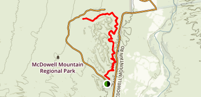 Escondido and Cinch Trails Map