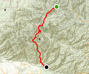 Mount Lemon to Sabino Canyon Map