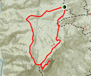 Table Rock Loop from Spence Ridge Trail Map