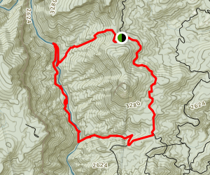 Devils Hole, Linville Gorge, Spence Ridge Trail Map