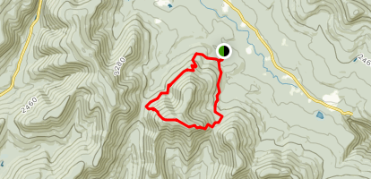 Sugarloaf Mountain Loop via Pecoy Notch and Mink Hollow Trails Map