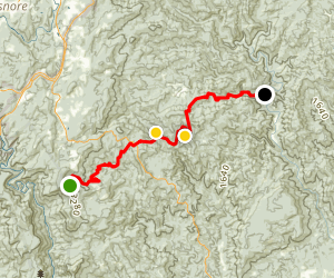 Wilson's Creek to Harper Creek Map