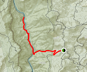 Spence Ridge and Linville River Trail Map