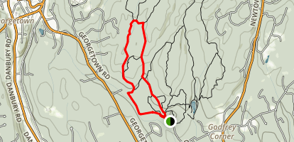 Saugatuck Trail to Den Trail to Pent Trail Loop Map