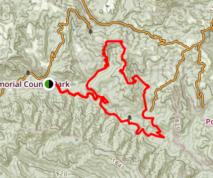 Pescadero Creek Trail to Brook Trail Loop Map