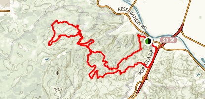 Fort Ord MTB Loop- Trail 25, 36, 42, 56, 68, 94, 96, 41 Map