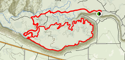 Hidden Canyon Secret Trail Map