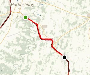 Route 9 Pathway: Martinsburg to Bardane Map