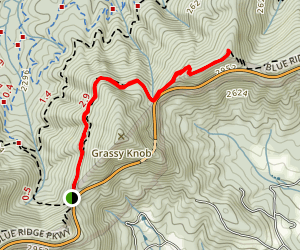 Shut-in Trail: Sleepy Gap to Reynolds Gap Map