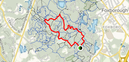 Wolf Meadow Road to High Rock to Dan's Trail Loop Map