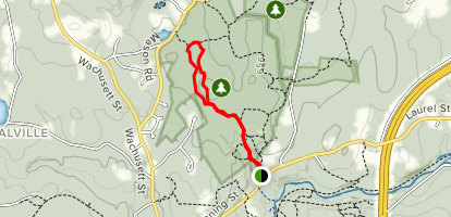 White Dot and Red Dot Loop Trail Map