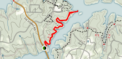 Falls Lake Trail to Blue Jay Point Trail Map