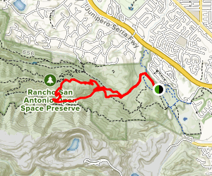 High Meadow Loop via Lower Meadow Trail Map