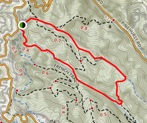 Stream, Prince and East Ridge Trails Loop Map