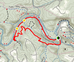Old Man Line, Daniel's SIngle Track, and Backside of Daniels Map