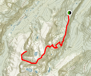 Halo Ridge Route to Mount of the Holy Cross Map
