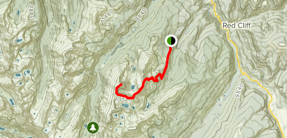 Mount of the Holy Cross via Halo Ridge Route Map