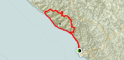 Lost Coast - King Range Loop Map