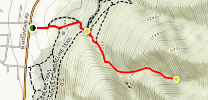 Garner Cave Trail Map