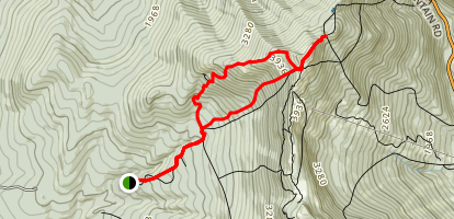 Mount Mansfield via Sunset Ridge and Laura Cowles Trails Map