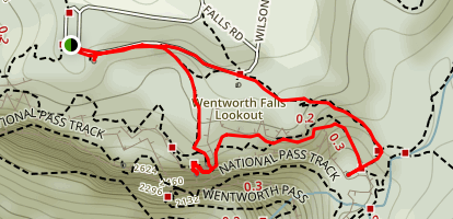 Wentworth Falls, Undercliff and Princess Rock Lookout Tracks Map