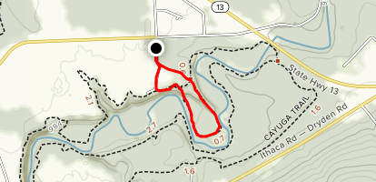 Cayuga Trail Loop via Monkey Run Trailhead Map