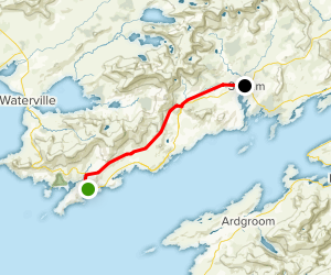 Kerry Way: Caherdaniel to Sneem Map