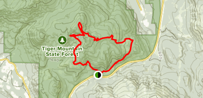Main Tiger Mountain Road, OTG, Fully Rigid, Joy Ride and Northwest Timber Loop Map