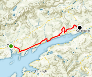 The Kerry Way: Sneem to Kenmare Map