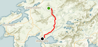 The Kerry Way: Derrymore to Waterville Map